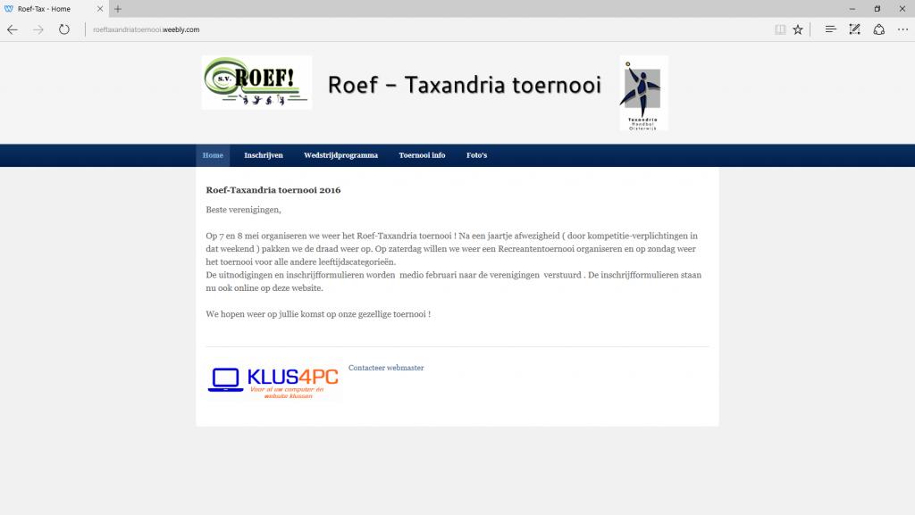 Roef - Taxanderia Toernooi